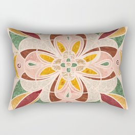Brown Mandala Tile 04 Rectangular Pillow