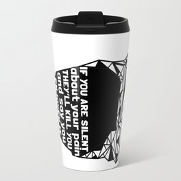 ZNH - If You Are Silent - Black Lives Matter - Series - Black Voices Travel Mug