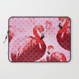Watercolor Flamingo Pattern Laptop Sleeve
