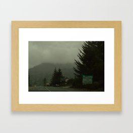 Welcome to Oregon Framed Art Print