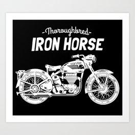 Thoroughbred Iron Horse Art Print