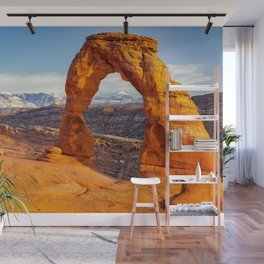 DELICATE ARCH SUNSET ARCHES NATIONAL PARK MOAB UTAH Wall Mural