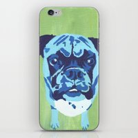 boxer iPhone & iPod Skins featuring Boxer by mkfineart