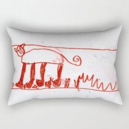 Cat Around Grass by Ajax Bell, age 6 Rectangular Pillow
