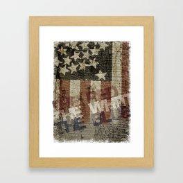 U.S.A. - Red, White & Blue Framed Art Print