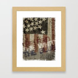 U.S.A. - Red, White & Blue Framed Art Print