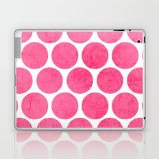 pink polka dots Laptop & iPad Skin