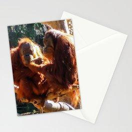 Orangutans at Feeding Stationery Cards