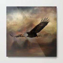 Eagle Flying Free Metal Print