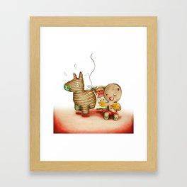 Boxing Biscuit Framed Art Print