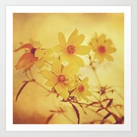 vintage floral Art Prints featuring Vintage Floral by Joel Olives