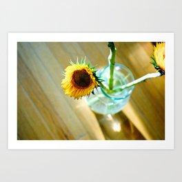 Tracy's Sunflower Art Print