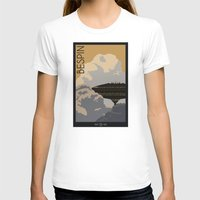 travel poster T-shirts featuring Bespin Travel Poster by Tawd86