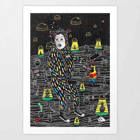 abduccion! Art Print