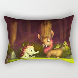 The nymph and the beast Rectangular Pillow