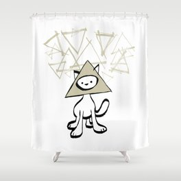 minima - pyramid cat Shower Curtain