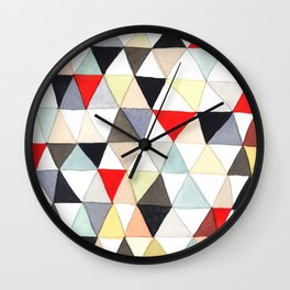 Geometric Pattern Watercolor & Pencil Robayre Wall Clock