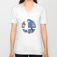 smash bros V-neck T-shirts featuring Megaman Smash Bros. by CmOrigins