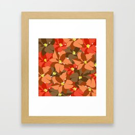 Poinsettia Love Framed Art Print