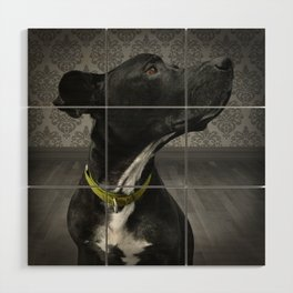 COBY (shelter pup) Wood Wall Art