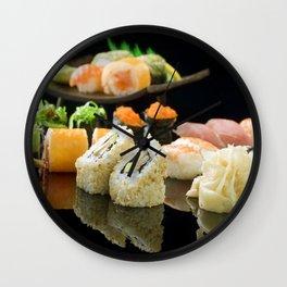Sushi Rolls 001 Wall Clock