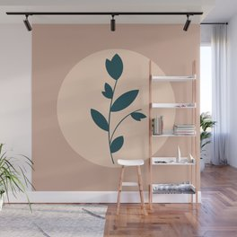 Botanical Abstract - Neutral Rose Wall Mural