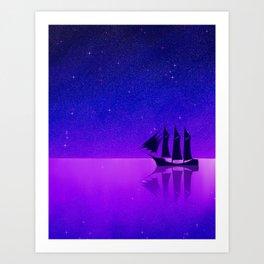 Sail among the Stars Art Print