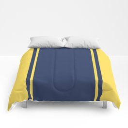 Yellow and Blue Pattern Comforters
