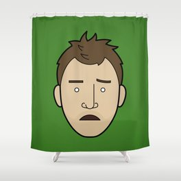 Faces of Breaking Bad: Jesse Pinkman (Early) Shower Curtain