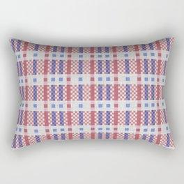 Lines and squares textured Tartan Rectangular Pillow