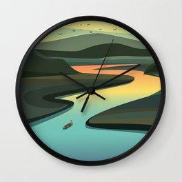 Amazon river brazil Wall Clock