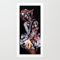 moulin rouge Art Prints featuring Moulin by Aksel Klintmalm