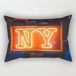 Neon NY Rectangular Pillow