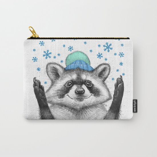 winter raccoon Carry-All Pouch
