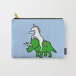 Unicorn Riding Triceratops Carry-All Pouch