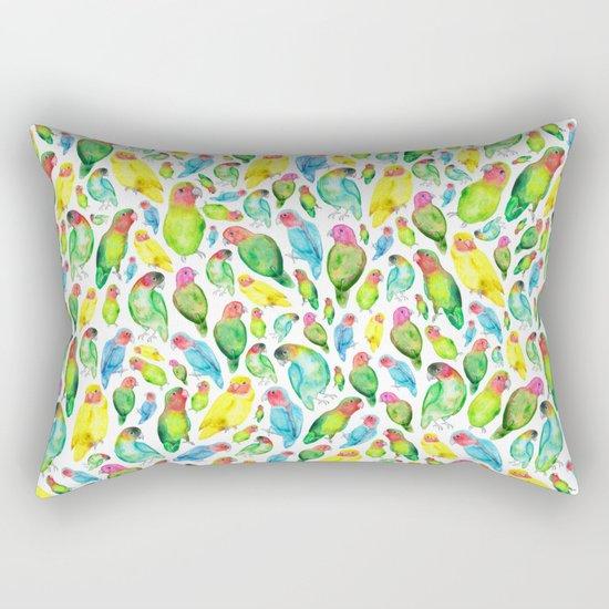Love Birds Pattern Rectangular Pillow
