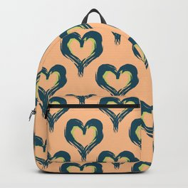 Pink Heart pattern Backpack