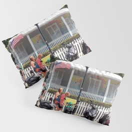 Motor Bikes and Picket Fence Pillow Sham