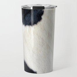 Cowhide Black and White Travel Mug