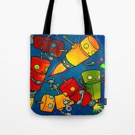Robot - Robot Party 2 (Zero Gravity) Tote Bag