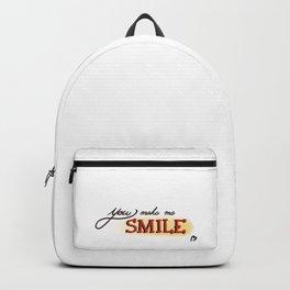 You make me Smile  Backpack