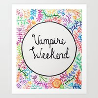 vampire weekend Art Prints featuring Vampire weekend by alquimie