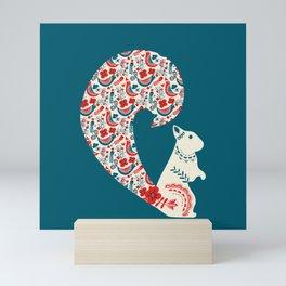 Folk Squirrel Mini Art Print
