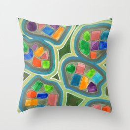 Jewel Nests Pattern Throw Pillow