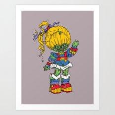 Zombie Brite Art Print