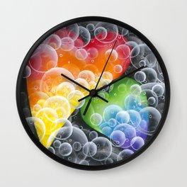 Bubble Hearts Wall Clock