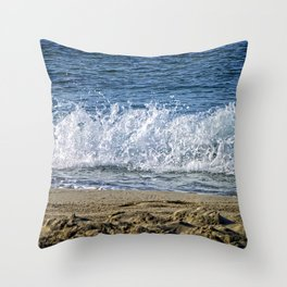 Frothy Surf Throw Pillow