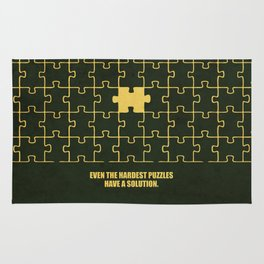 Lab No. 4 -Even The Hardest Puzzles Have A Solution Corporate Start-Up Quotes Rug