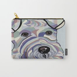 Wire Hair Terrier Denim Colors Carry-All Pouch