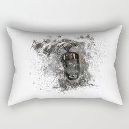 Abstract Lion Roar Rectangular Pillow